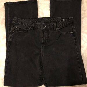 CALVIN KLEIN Flare Leg Black Jeans